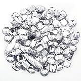100 x klar Glitzersteine Schmucksteine Acrylsteine Strasssteine Bastelsteine zum aufnähen