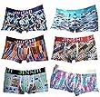 JINSHI Mens Boxer Briefs Short Leg Bamboo Underwear 6-Pack XXL