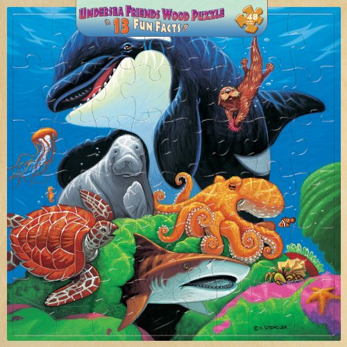 MasterPieces / Fun Facts 48-Piece Wood Puzzle, Undersea Friends