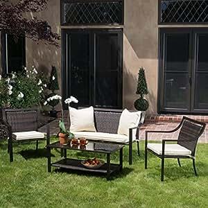 Amazon 4 Piece Deep Seating Group Outdoor Patio