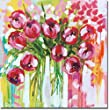 Razzle Dazzle Tulips by Amanda Brooks Premium Stretched Canvas Art (Ready to Hang)