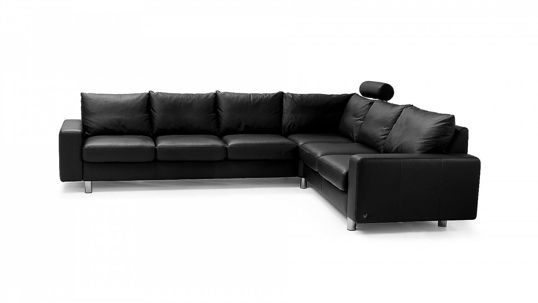 Stressless® E200 Luxusgarnitur Ecksofa Couch groß schwarz günstig günstig kaufen