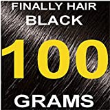 Finally Hair Hair Fiber Refill 100 Grams For Hair Loss Concealing by Finally Hair (Black) (Color: Black)