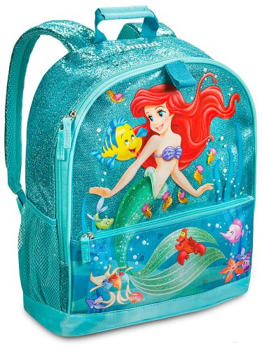 Disney Store Princess Ariel The Little Mermaid Backpack for School Supplies