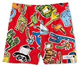 Flap Happy Zootopia Jr Surf Trunk with Swim Diaper liner, Red/Multi, 6 Months