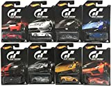 2016 Hot Wheels Set of 8 Cars GRAN TURISMO Limited Edition 1:64 Scale Collectible Die Cast Metal Toy Car Models