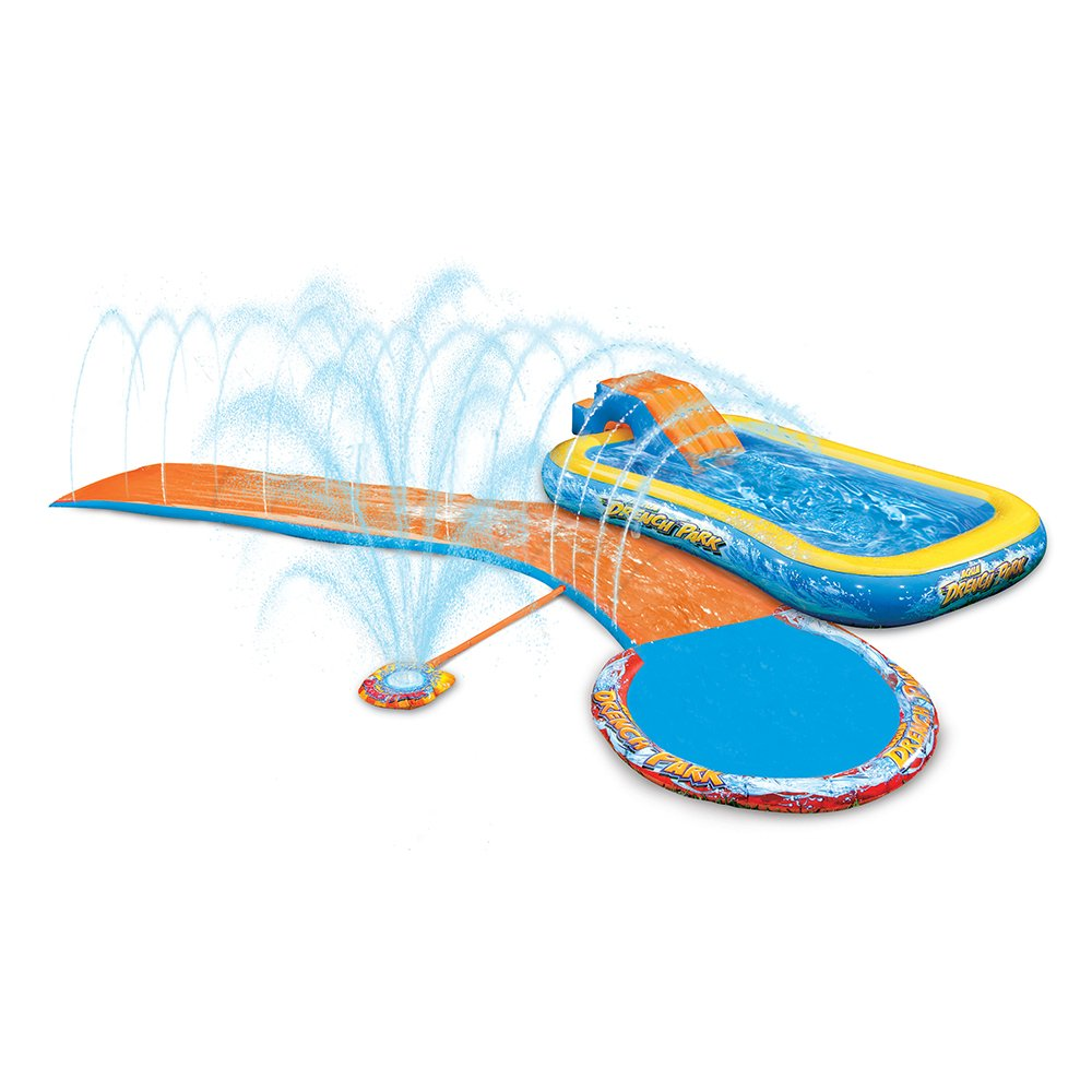 Banzai Huge Splash Park Inflatable Water Sprinkling Slide and Swimming Pool by Banzai