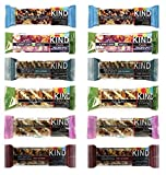 Kind Bar Nuts & Spices, Fruit & Nuts Super Variety- (12-PACK)-(2 of Each Flavor 1.4 Oz)............. +2 Kind Almond Cashew +2 Kind Almond Apricot Yogurt +2 Kind Fruit & nuts Yogurt + 2 Kind Dark Chocolate nuts with sea salt+ 2 Kind Dark Chocolate Cinnamon Pecan+ 2 Kind Blueberry Vanilla Cashew--