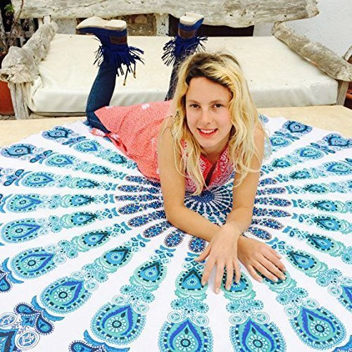 Popular Round Roundie Beach Throw Tapestry Gypsy Tablecloth Beach Towel,Yoga Mat