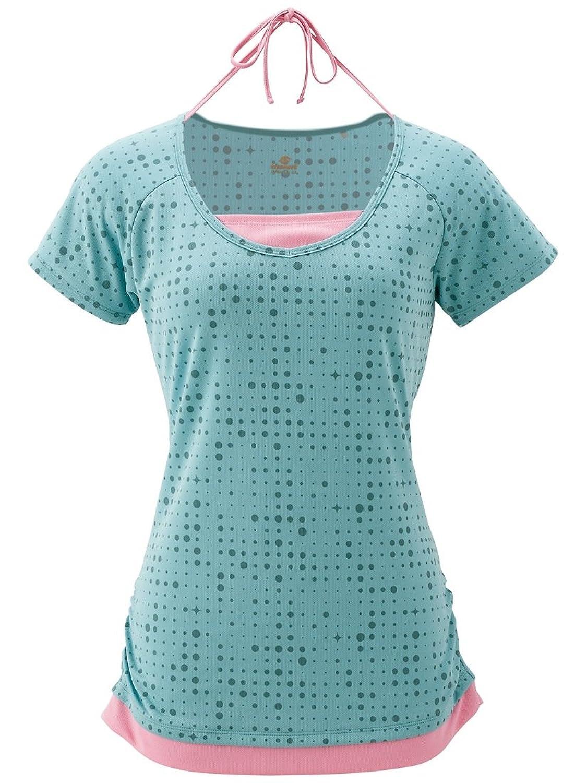 キスマーク(kissmark) レディース フェイクレイヤード柄 Tシャツ (KM-3I625)