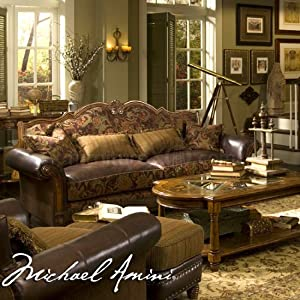 Amazoncom aico living room set sedgewicke ai 359 for Aico living room sets