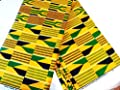 2 Yards African Fabric Kente Ankara Prints - Yellow