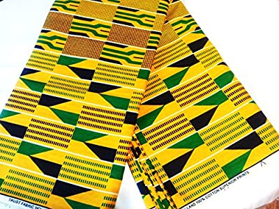 6 Yards African Fabric Ankara Kente Cotton Prints