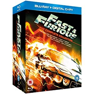 fast furious 1 5 box set collection blu ray region free version includes the. Black Bedroom Furniture Sets. Home Design Ideas