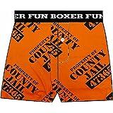 County Jail Inmate Erwachsene Orange Boxer Shorts