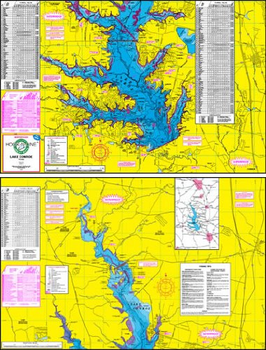 Waterproof Topo Map of Lake Conroe - With GPS Hotspots