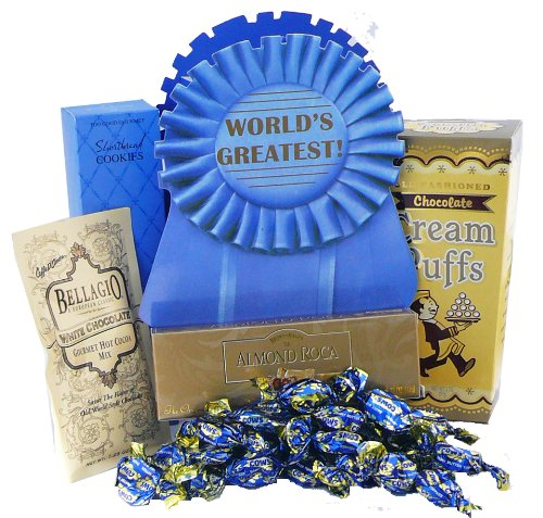 Worlds Greatest Gift Tote Bag of Snacks and Treats