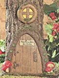 Garden Gnome Home Door in a Tree Art Pieces Outdoor Yard Decor