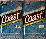 Coast Classic Pacific Force Scent 2-pack of 8 Count 4 Oz Bars Total Bars 16
