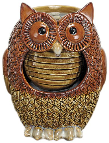 Nature's Garden Owl Tabletop Garden Fountain