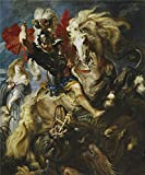 Oil Painting 'Rubens Peter Paul Saint George Battles The Dragon Ca. 1607' 18 x 22 inch / 46 x 55 cm , on High Definition HD canvas prints is for Gifts And Dining Room, Nursery And Powder Room decor