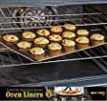 Twisted Chef Oven Liners - Set of 3 Non Stick Accessories - Keep Gas, Electric and Toaster Ovens Clean