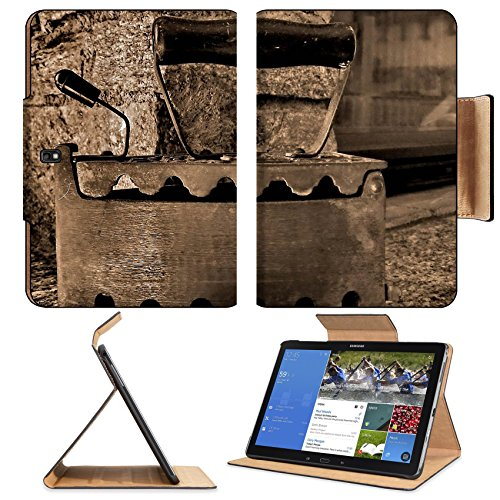 Old Retro Iron Antique Sepia Samsung Tab Pro 12.2 Flip Case Stand Smart Magnetic Cover Open Ports Customized Made To Order Support Ready Premium Deluxe Pu Leather Msd Professional Graphic Background Covers Designed Model Folio Sleeve Hd Template Designed front-602738
