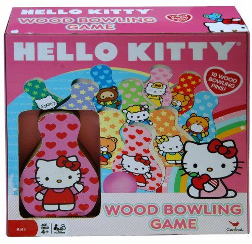 Hello Kitty Wood Bowling Game Set - 1