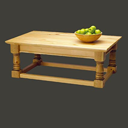 """Coffee Table Distressed Country Pine Vintage Table 17""""H 