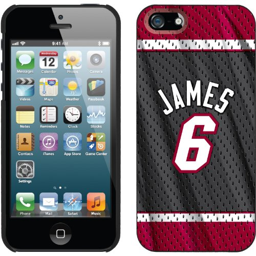 Special Sale LeBron James - Road Jersey Back design on a Black iPhone 5s / 5 Thinshield Snap-On Case by Coveroo