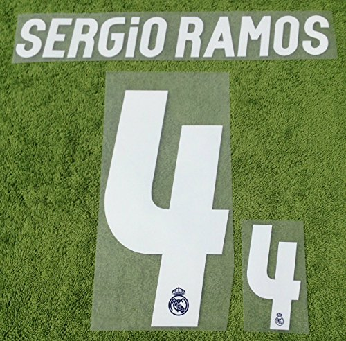 SERGIO RAMOS #4 Real Madrid Away 2016-2017 Kids Soccer Jersey Kit Football Shirt Print Name Number Set YOUTHTransfer (Cristiano Ronaldo Print Number compare prices)