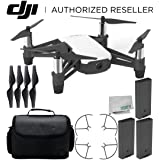 Ryze Tello Quadcopter Drone with HD camera and VR - powered by DJI technology and Intel Processor Ultimate Travel Bundle (Color: Base, Tamaño: F) Ultimate)