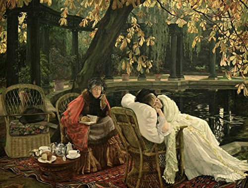 Tallenge-James-Tissot-A-Convalescent-c1876-Unframed-Rolled-A3-Size-Poster-116x165-inches
