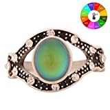 Vintage Retro Color Change Mood Ring Oval Emotion Feeling Changeable Ring Temperature Control Ring for Women MJ-RS001 (8)