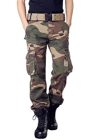Harrms カーゴパンツ メンズ 迷彩柄 ミリタリー 作業着パンツ アウトドア ワークパンツ ストレッチ 大きいサイズ アウトドア 男性 ファション 長ズボン 6色