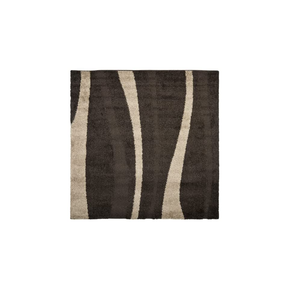 Safavieh Willow Shag Collection SG451 2813 Dark Brown and Beige Square Area Rug (67 Square)