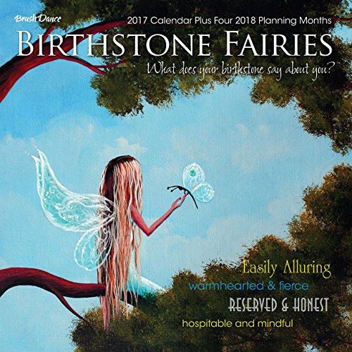 2017 Monthly Wall Calendar - Birthstone Fairies
