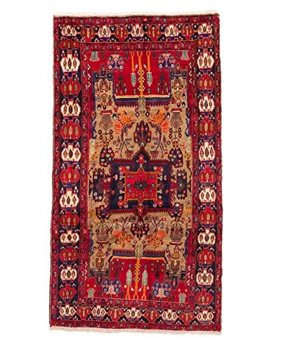 eCarpet Gallery One-of-a-Kind Hand-Knotted Nahavand Rug, Red, 5' 7 x 10' 4