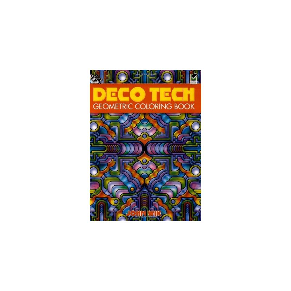 Deco Tech Geometric Coloring Book (Dover Design Coloring ...
