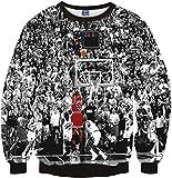 (ピゾフ)Pizoff メンズ 長袖 パーカー 運動風 バスケットボール柄 ストリート カッコいい プルオーバY1759-F8-XL