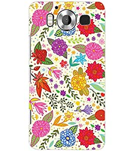 PrintDhaba FLOWER PATTERN D-6813 Back Case Cover for MICROSOFT LUMIA 950 (Multi-Coloured)