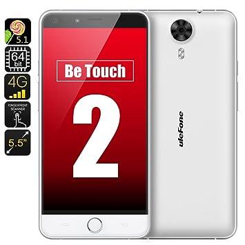 Ulefone Be Touch 2 - Smartphone 4G LTE / Écran 5.5 pouces 1080p / Android 5.1 / CPU Octa Core 64Bits 1.7GHz / 3Go de RAM / Blanc**