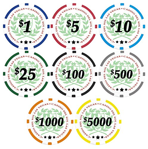Best Price! 50 Casino Del Sol 11.5 gram Poker Chips with Denominations
