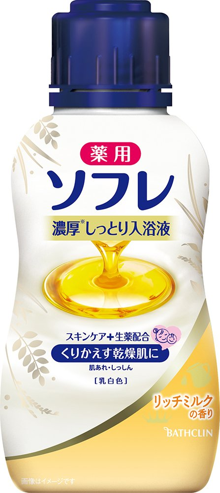 薬用ソフレ 濃厚しっとり入浴液 リッチミルクの香り 480mL (医薬部外品)