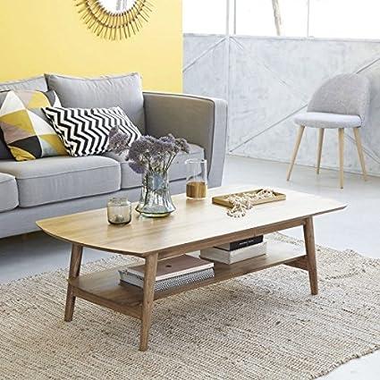 Table basse en bois de mindy 130 x 40 FIFTIES