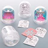 Baker Ross AT168 Princess Colour in Snow Globe Kits (Box of 4) -Arts and Crafts for Kids, Assorted (Color: Assorted)