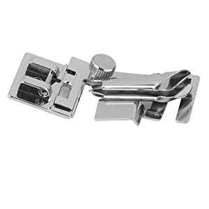 Tinksky Sewing Machine Presser Foot Snap on Bias Tape Binding Binder Foot Silver (Color: Siliver)