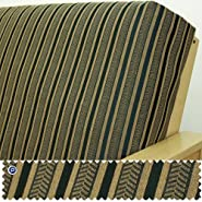 Queen Futon Cover: Herringbone Black Stripe