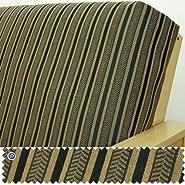 Queen Futon Cover: Herringbone Black Stripe
