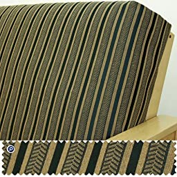 Herringbone Black Stripe Fitted Mattress Cover Full 5